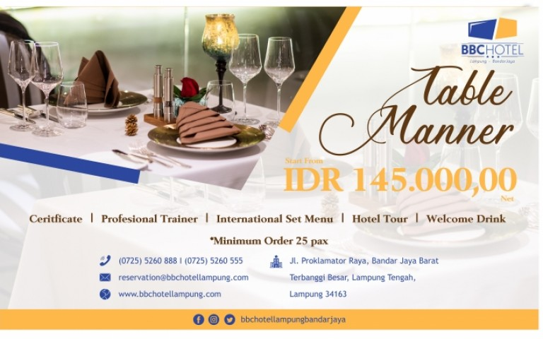 Table Manner Package